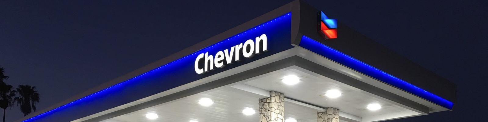 Chevron gas station branding